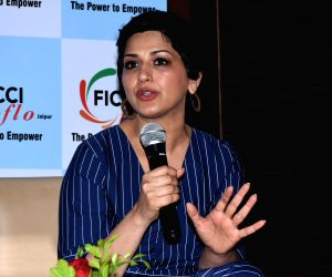 Sonali Bendre at an interactive session