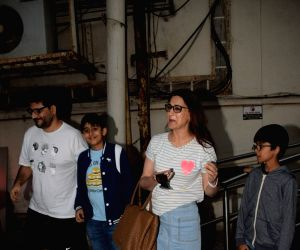 Sonali Bendre, Prem Chopra spotted at Juhu cinema hall
