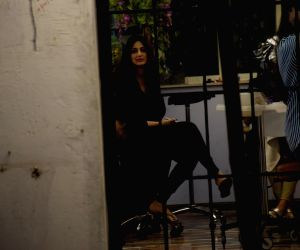 Sonali Bendre seen at a salon