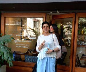 Actress Sonali Bendre seen in Mumbai's Bandra, on April 17, 2019.