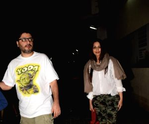 Sonali Bendre seen with family at PVR