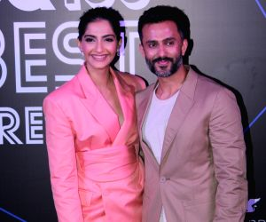 "Actress Sonam Kapoor and her husband Anand Ahuja at ""GQ 100 Best Dressed Awards 2019"", in Mumbai, on June 1, 2019."