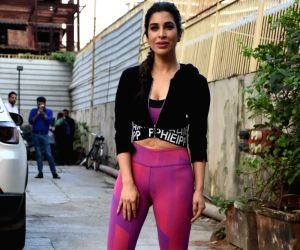 Sophie Choudry, Rakul Preet Singh seen at a gym
