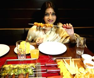 Rupa Ganguly during launch of a restaurant