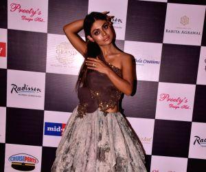 Sreejita De during a fashion show