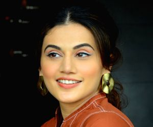 """Game Over"""" promotions - Taapsee Pannu during media interaction"""