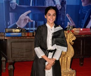 """Actress Taapsee Pannu at the trailer launch of """"Mulk"""" in Mumbai on July 9, 2018."""