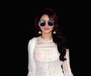 "Actress Urvashi Rautela at the ""Zoom Holi Party"" in Mumbai on March 2, 2018."