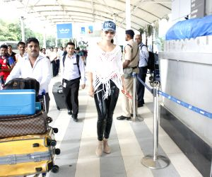 Urvashi Rautela spotted at the domestic airport