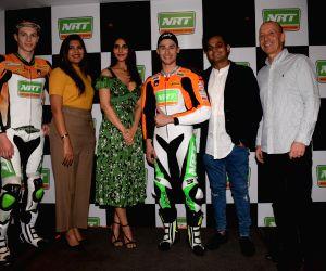 Vaani Kapoor with International Bike Racer Jules Cluzel and Thomas Gradinger