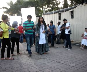Vidya Balan during a shoot