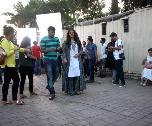 Vidya Balan during a shoot