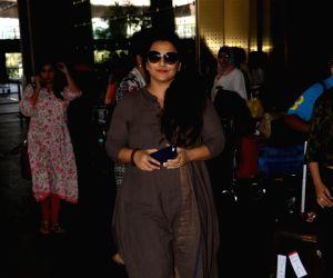 Vidya Balan seen at airport