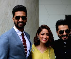 Army Day celebrations - Vicky Kaushal and Yami Gautam