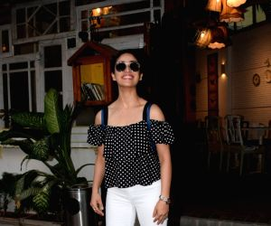 Yami Gautam seen at a restaurant