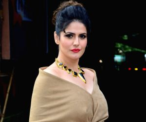 """Actress Zarine Khan during the promotions of her upcoming film """"Aksar 2"""" on the sets of television show 'Comedy Dangal' in Mumbai on Sept 17, 2017."""