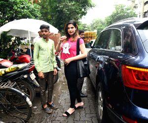Zarine Khan seen at Mumbai's Bandra