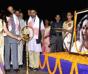 Noted intellectual Hiren Gohain during Mamoni Raysam Goswami's birth anniversary celebrations
