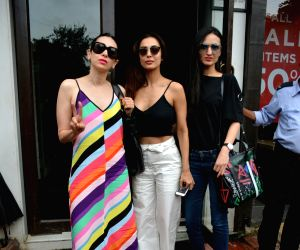 Actresses Karisma Kapoor, Malaika Arora and Anu Diwan seen at Mumbai's Bandra on July 18, 2018.