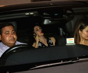 Actresses Malaika Arora and Karisma Kapoor during Ritesh Sidhwani's party in Mumbai on June 1, 2018.