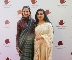 Shraddha and Sonam at the launch of Padmasitaa clothing collection