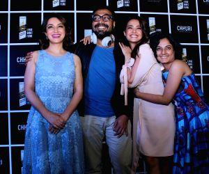 "Press conference of film ""Chhuri"" - Surveen Chawla, Tisca Chopra, Anurag Kashyap and Mansi Jain"