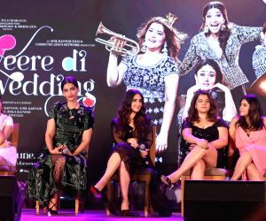 "Music launch of film ""Veere Di Wedding"" - Swara Bhasker, Sonam Kapoor Ahuja, Kareena Kapoor Khan, Shikha Talsania and Ekta Kapoor"