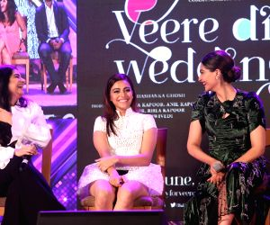 "Music launch of film ""Veere Di Wedding"" - Swara Bhasker, Sonam Kapoor Ahuja and  Rhea Kapoor"
