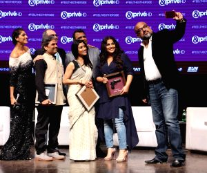Launch of new channel '& Prive HD' - Vidya Balan, Konkona Sen Sharma and Vishal Bhardwaj