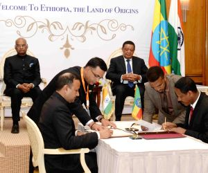 Addis Ababa (Ethiopia): India-Ethiopia ink agreements