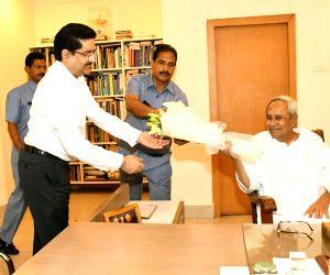 Aditya Birla Group Chairman Kumar Mangalam Birla calls on Odisha Chief Minister and Biju Janata Dal (BJD) President Naveen Patnaik at Secretariat in Bhubaneswar on May 29, 2019.