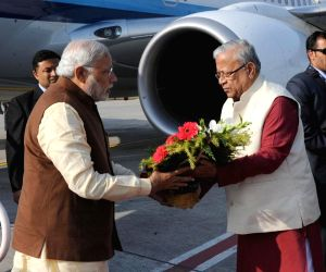 PM Modi arrives in Agartala