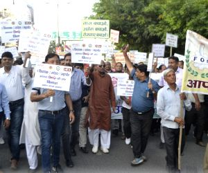 Protest in Agra over restrictions on industries