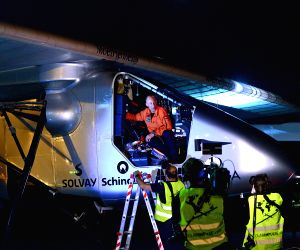 Solar Impulse 2 lands in Ahmedabad