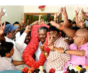 Panneerselvam at his residence