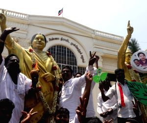 TN Assembly by-elections - AIADMK workers celebrate