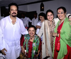 Celebs at Akbar Khan's residence during a Get-together