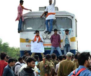 Akhil Bharatiya Kshatriya Mahsabha's demonstration