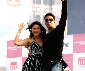 "Akshay Kumar and Kareena Kapoor at DLF Place, Saket in New Delhi for promotion of their film ""Kambakkht Ishq"" on Thursday 2 July 2009."