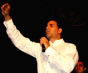 Akshay Kumar at Hindi Parishad fest of Jaihind College at Churchgate.