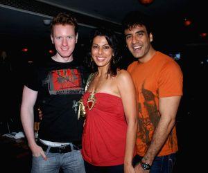 Alex, Pooja Bedi with Karan at Iron Maiden Tribute with band One Night Stand at Firangi Paani.