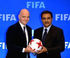 FIFA U17 World Cup 2017 - press conference - Praful Patel, Gianni Infantino