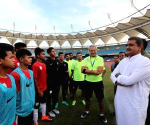 AIFF President Praful Patel meets Indian U-17 World Cup Squad