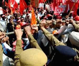 AITUC demonstration against Modi government