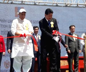 Rajnath at launch ceremony of Indian-funded oil refinery in Mongolia