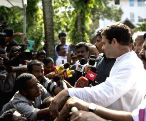 Rahul Gandhi during a programme organised by Rubber Growers' Organisation