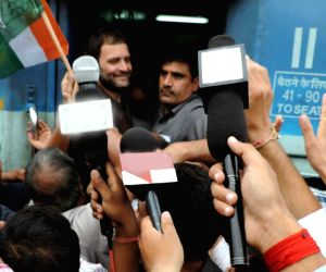 Rahul takes train to Punjab to listen to farmers' woes