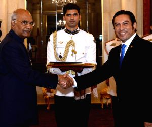 A mbassador of El Salvador presents his credentials to President Kovind