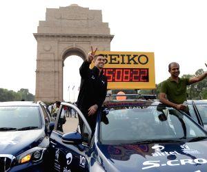 Anthony Ervin at India Gate