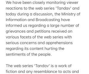 'Tandav' controversy: Creator Ali Abbas Zafar says sorry